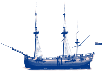 HM Bark Endeavour ship graphic